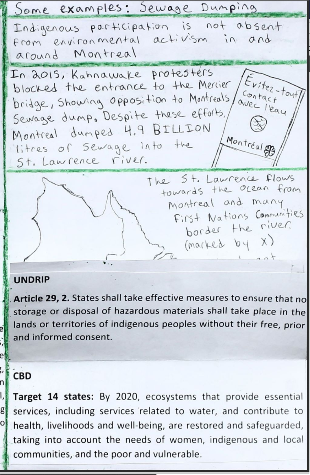 International Agreements and Indigenous Environmental Activism 8
